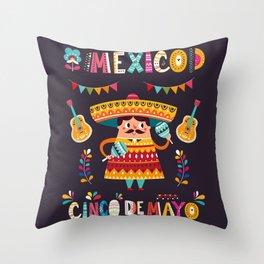 Cinco de Mayo – Mexico Throw Pillow
