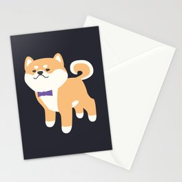 Formal Shiba Inu Stationery Cards