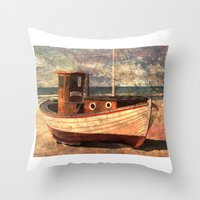 lonely Throw Pillows featuring Lonely by Fernando Vieira