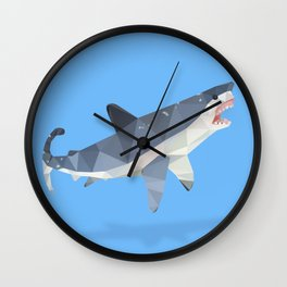 Low Poly Great White Shark Wall Clock