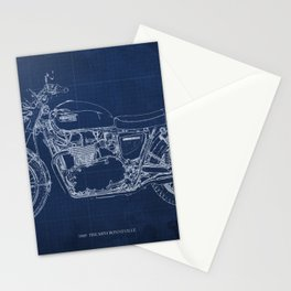 1969 triumph bonneville classic vintage motorcycle christmas gift Stationery Cards