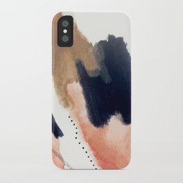Drift Away [2] - a mixed media abstract piece in pink, brown, and purple iPhone Case