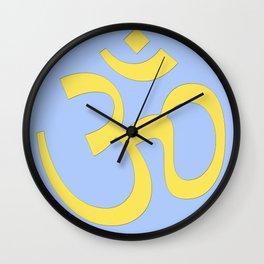 hindy om (aum)  symbol Wall Clock