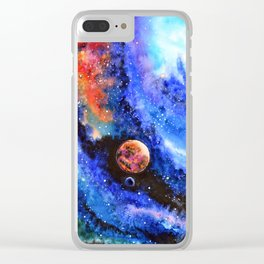 Galaxy landscape Clear iPhone Case