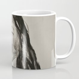 Portrait of a Woman in Black and White Coffee Mug