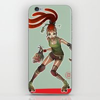 roller derby iPhone & iPod Skins featuring Roller Derby by Doriane  *BamboO*