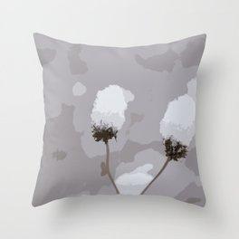 Snow Puffs Throw Pillow