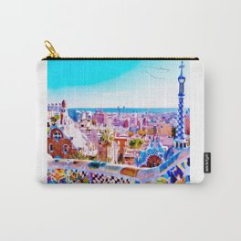 Park Guell Watercolor painting Carry-All Pouch