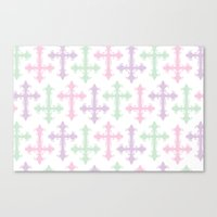 pastel goth Canvas Prints featuring Pastel Goth by Glitterati Grunge