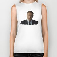 house of cards Biker Tanks featuring House Of Cards by BearClause