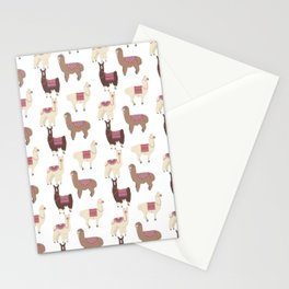 llamas and alpacas Stationery Cards