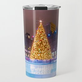 Christmas in Market Square Travel Mug