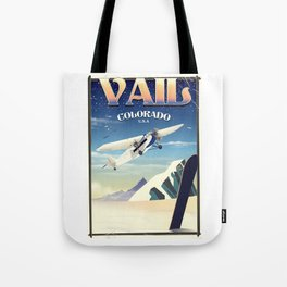 Vail Colorado vintage travel poste Tote Bag