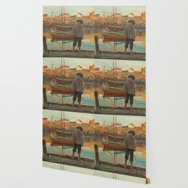 Carl Wilhelmson Boy Fishing Wallpaper