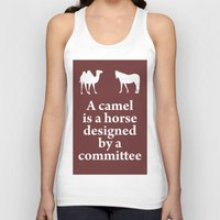 camel Tank Tops featuring Camel by cocksoupart