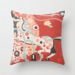 """Gustav Klimt """"Textile design - Model 3"""" Throw Pillow"""