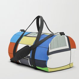 Facade with colorful paintings and windows Duffle Bag