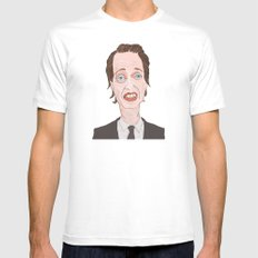 Buscemi White Mens Fitted Tee MEDIUM