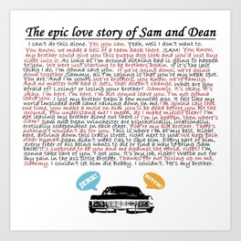 Epic Love Story of Sam and Dean Art Print