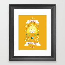 Animal Crossing: Isabelle Framed Art Print