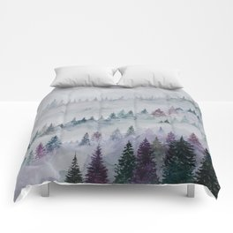 Forest in Mist Comforters