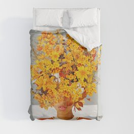 I Saw You Flower in the reflection of my Soul Duvet Cover