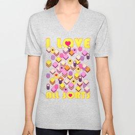 I Love All Sorts Unisex V-Neck