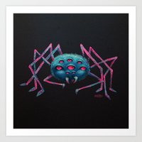 spider Art Prints featuring Spider by AlexTroi