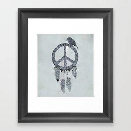 A dreamcatcher for peace Framed Art Print