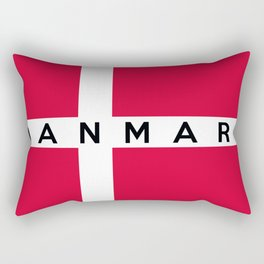 denmark country flag danmark name text Rectangular Pillow
