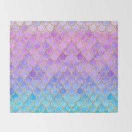 Pretty Mermaid Scales 07 Throw Blanket