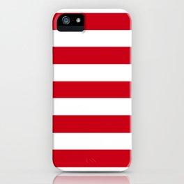 Harvard crimson - solid color - white stripes pattern iPhone Case