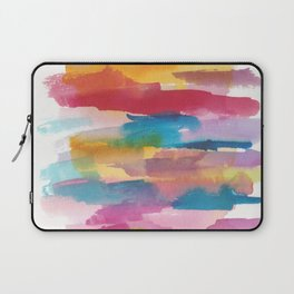 180812 Abstract Watercolour Expressionism 1| Colorful Abstract | Modern Watercolor Art Laptop Sleeve