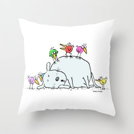 Sleeping with an Audience Throw Pillow