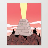 pyramid Canvas Prints featuring Pyramid by Mike Force