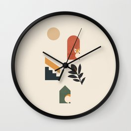Hide and Seek Corgi Wall Clock