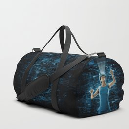 Virtual Reality User Woman Duffle Bag