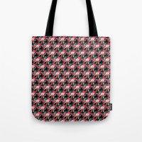 vampire weekend Tote Bags featuring Vampire Weekend Floral Pattern by Harold's Visuals