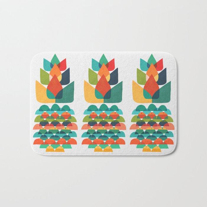 Colorful Whimsical Ananas Bath Mat
