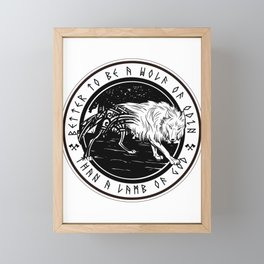 Wolf Odin Fenrir Framed Mini Art Print
