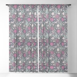 Poppies - William Morris Sheer Curtain
