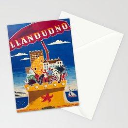 Travel Poster Llandudno British Railways Daphne Padden Stationery Cards