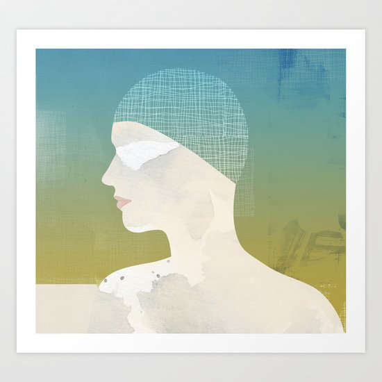Winter Swim Art Print