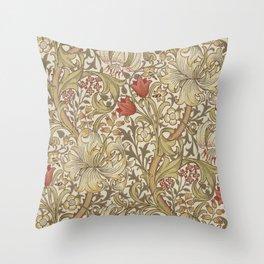 William Morris Golden Lily John Henry Dearle Throw Pillow