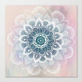 Winter Fountain Mandala Canvas Print