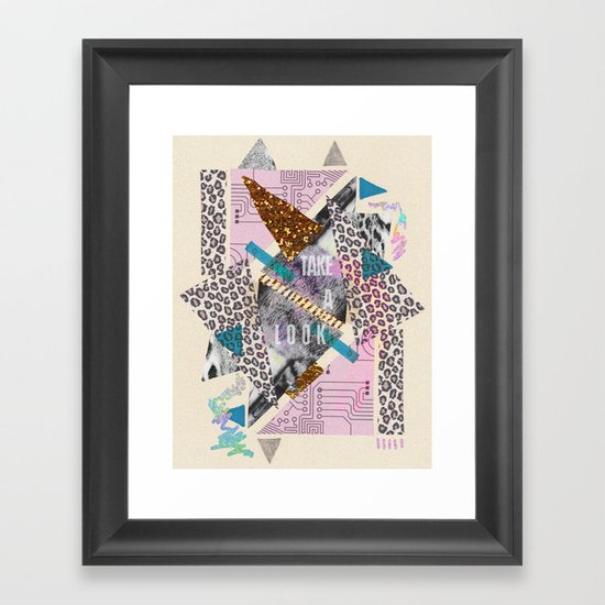 (DREAMER) Take A Look  Framed Art Print