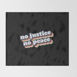 No Justice No Peace BLM 2020 Throw Blanket