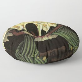 1941 Classical Masterpiece Calla lily 'Flower Seller' by Diego Rivera Floor Pillow