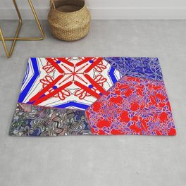 Tile #1 Red-White-Blue Collage Rug