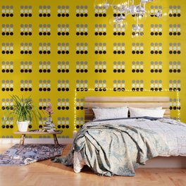 Abacus - Retro Dots On Yellow Background #decor #society6 #buyart Wallpaper